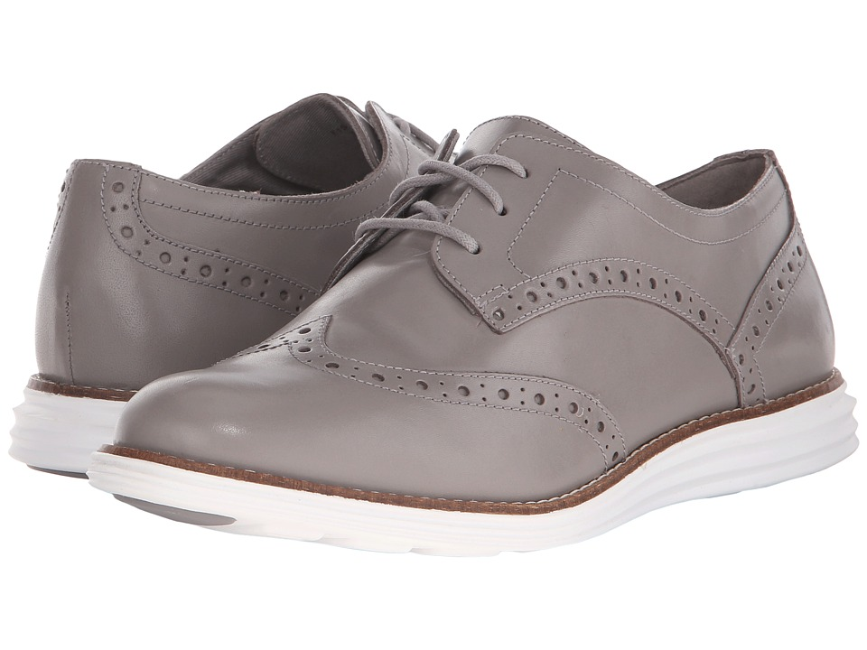 Cole Haan - Original Grand Wingtip (Ironstone/Optic White) Women's Lace Up Wing Tip Shoes