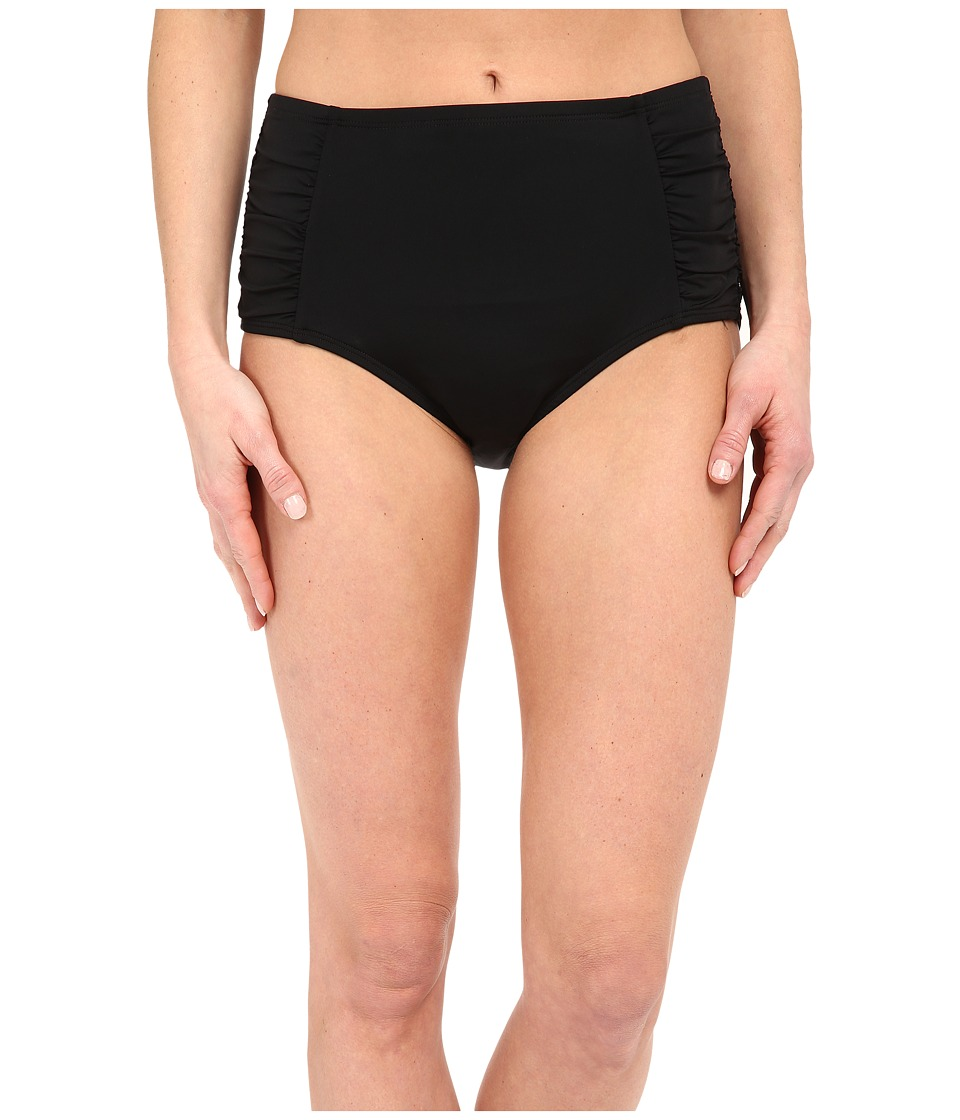 Jantzen - Solids High Waisted Bottom (Black) Women's Swimwear