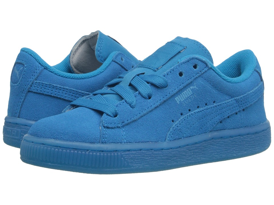 Puma Kids - Suede Iced Fluo (Little Kid/Big Kid) (Atomic Blue) Kids Shoes