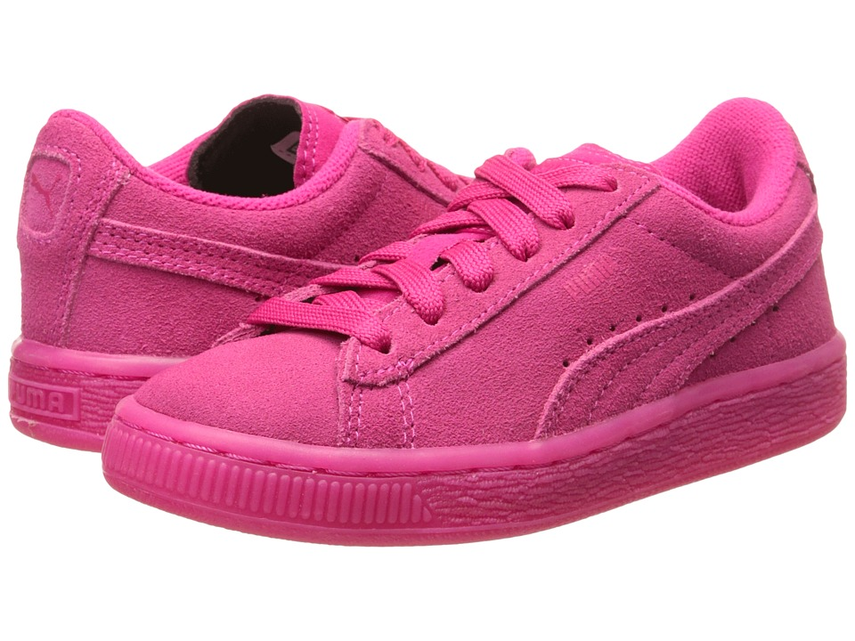 Puma Kids - Suede Iced Fluo (Little Kid/Big Kid) (Beetroot Purple) Kids Shoes