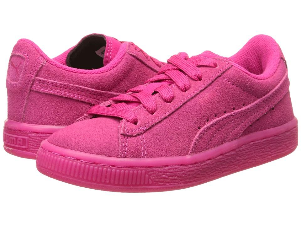 Puma Kids - Suede Iced Fluo (Little Kid/Big Kid) (Beetroot Purple) Kids Shoes