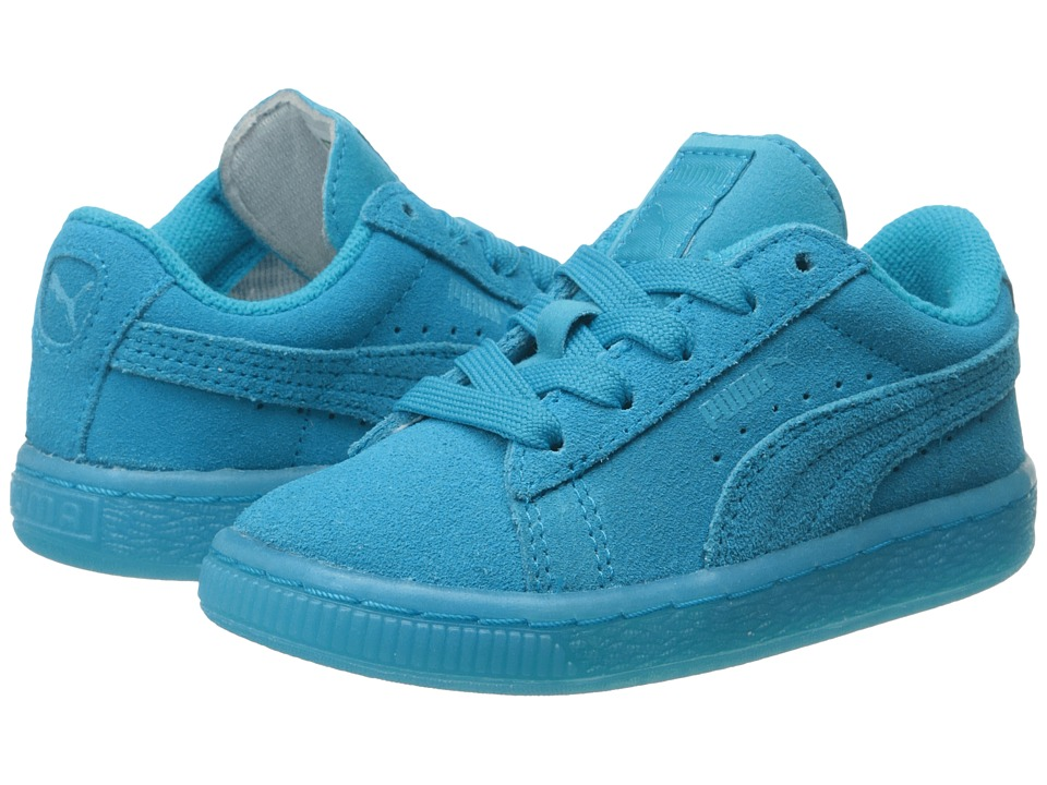 Puma Kids - Suede Iced Fluo (Toddler/Little Kid/Big Kid) (Atomic Blue) Girls Shoes