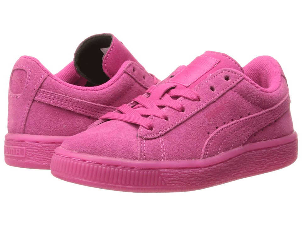 Puma Kids - Suede Iced Fluo (Toddler/Little Kid/Big Kid) (Beetroot Purple) Girls Shoes