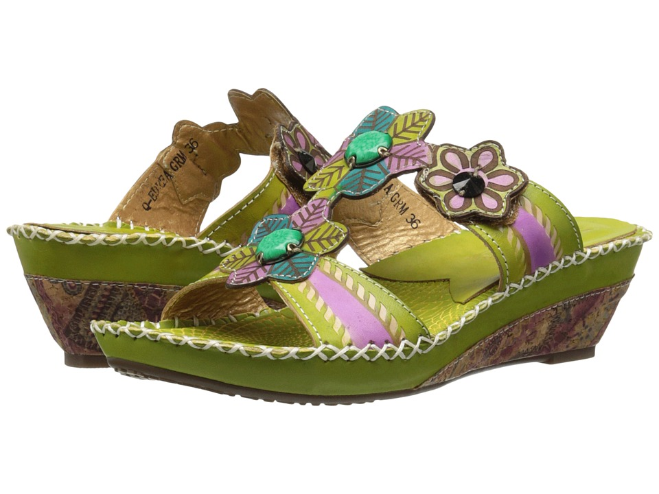 Spring Step - Edrea (Green) Women's Shoes