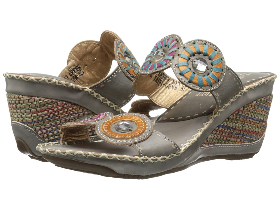 L'Artiste by Spring Step - Taffy (Gray Multi) Women's Sling Back Shoes