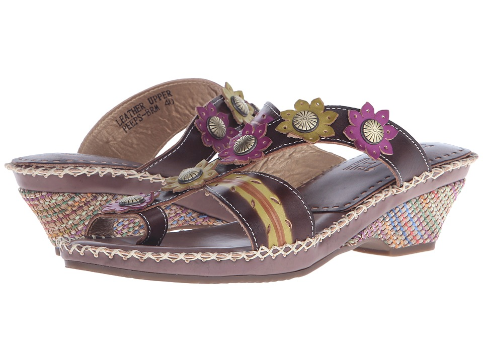 L'Artiste by Spring Step - Peeps (Brown) Women's Sandals