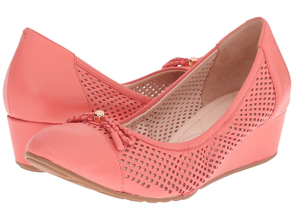 Cole Haan - Tali Grand Lace Wedge 40 (Coral Haze Perf) Women