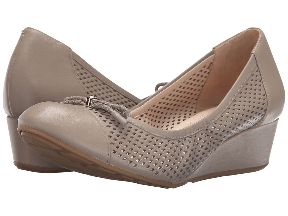 Cole Haan - Tali Grand Lace Wedge 40 (Vintage Khaki Perf Leather) Women