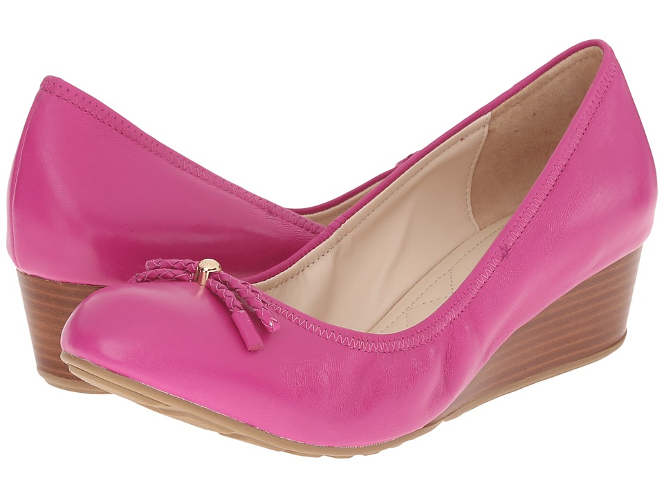 Cole Haan - Tali Grand Lace Wedge 40 (Fuchsia Leather) Women