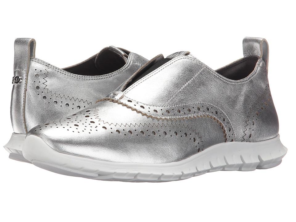 Cole Haan - Zerogrand Slip-On Wing (Argento Metallic/Coral Haze) Women's Slip on Shoes