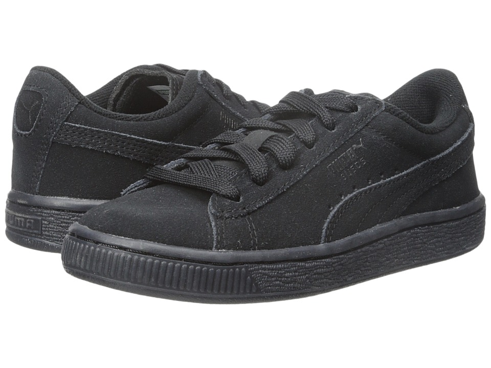 Puma Kids - Suede Iced (Little Kid/Big Kid) (Black) Kids Shoes