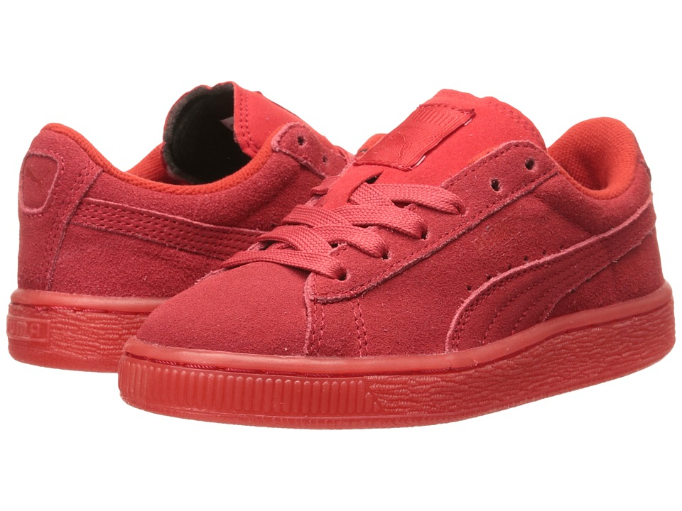 Puma Kids - Suede Iced (Little Kid/Big Kid) (High Risk Red) Kids Shoes