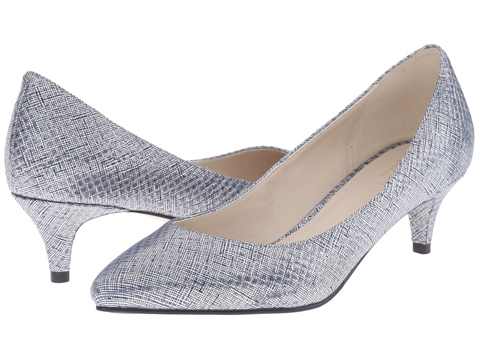 Cole Haan - Juliana Pump 45mm (Blazer Blue/Silver Metallic) Women's 1-2 inch heel Shoes