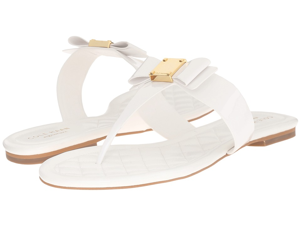 Cole Haan - Tali Bow Sandal (Optic White) Women's Sandals