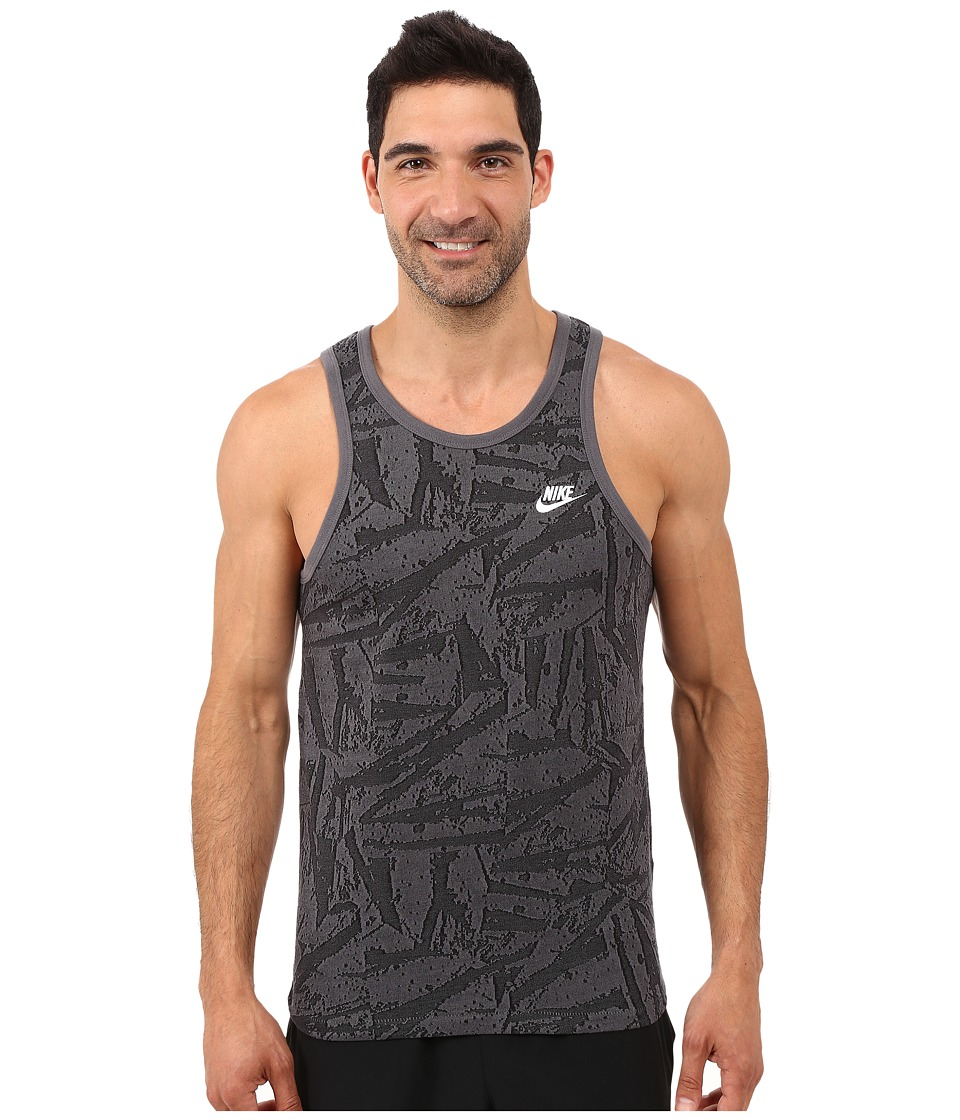Nike - Solstice Futura Tank Top (Black/White) Men's Sleeveless