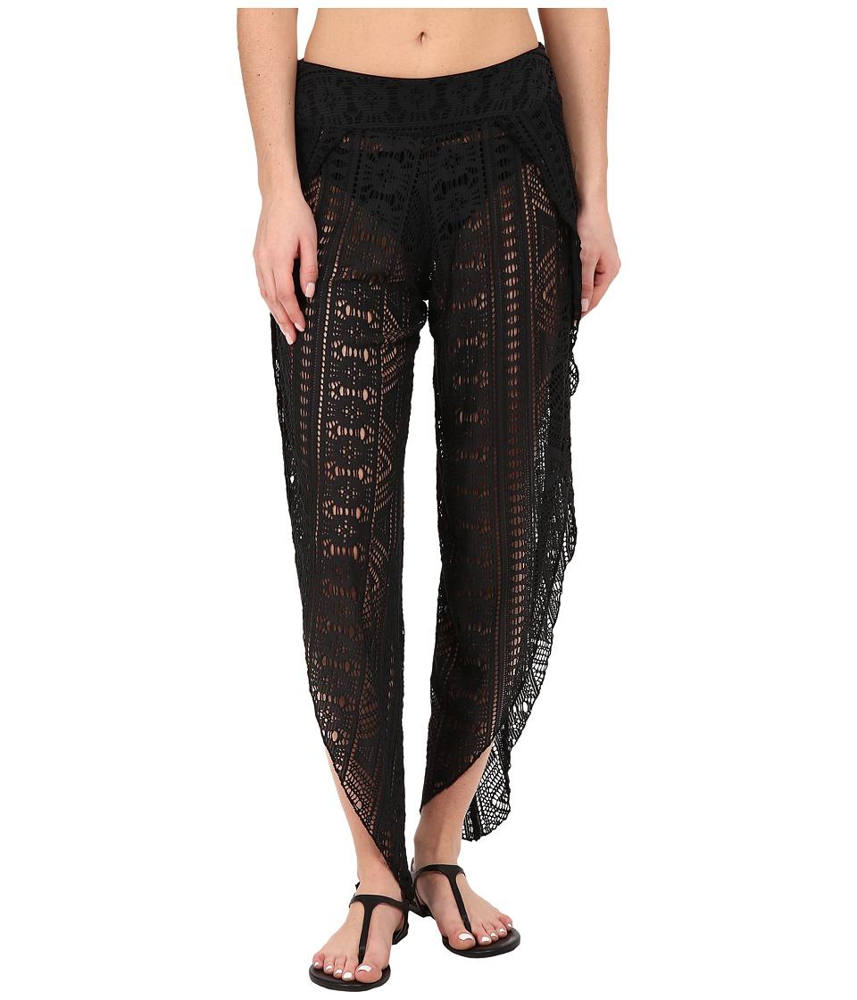 BECCA by Rebecca Virtue - La Boheme Pants Cover-Up (Black) Women's Swimwear