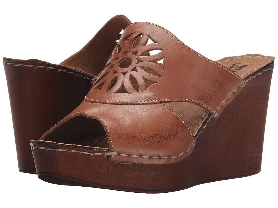 Spring Step - Beshka (Brown) Women's Wedge Shoes
