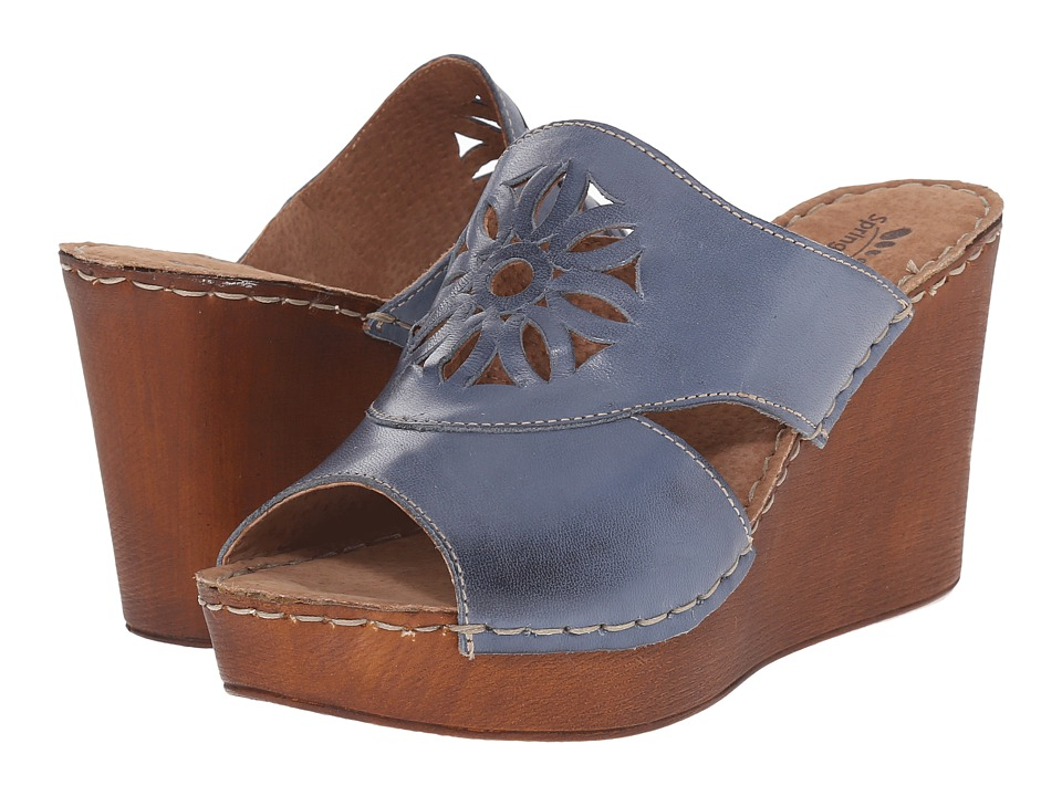 Spring Step - Beshka (Blue) Women's Wedge Shoes