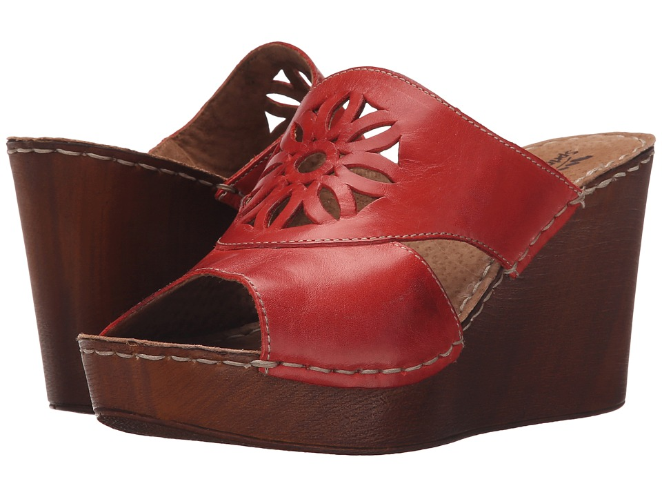 Spring Step - Beshka (Red) Women's Wedge Shoes
