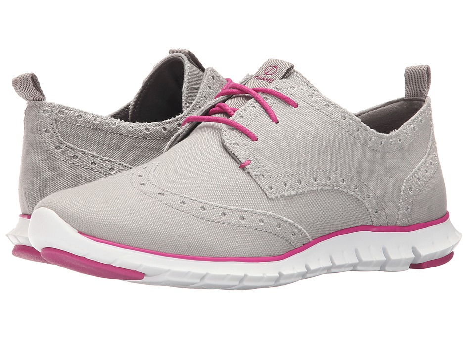 Cole Haan - Zerogrand Deconstructed Wingox (Paloma Canvas/Fuchsia Red/Optic White) Women