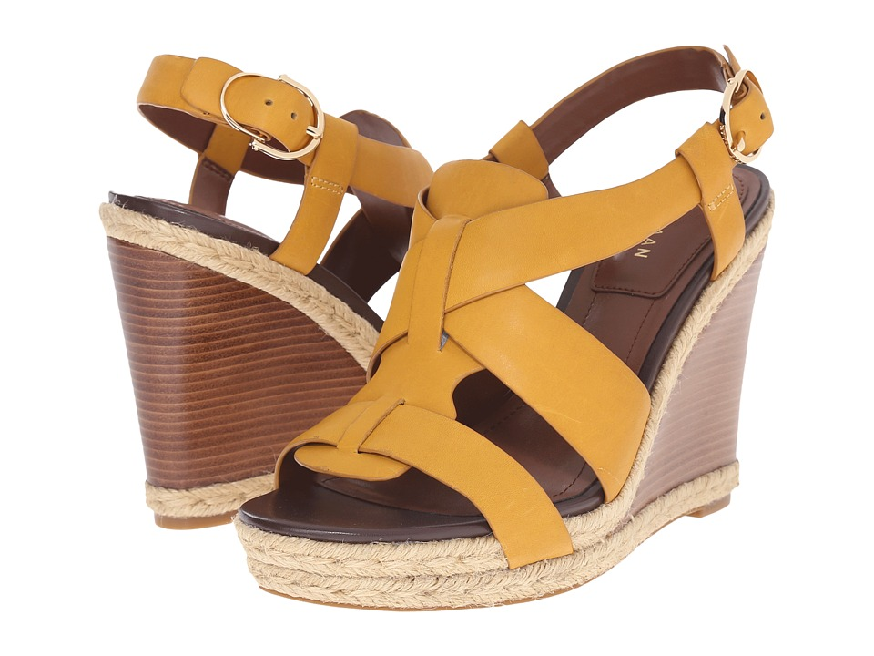 Cole Haan - Breecey Wedge (Mineral Yellow Leather/Natural Jute/Natural Stacked) Women