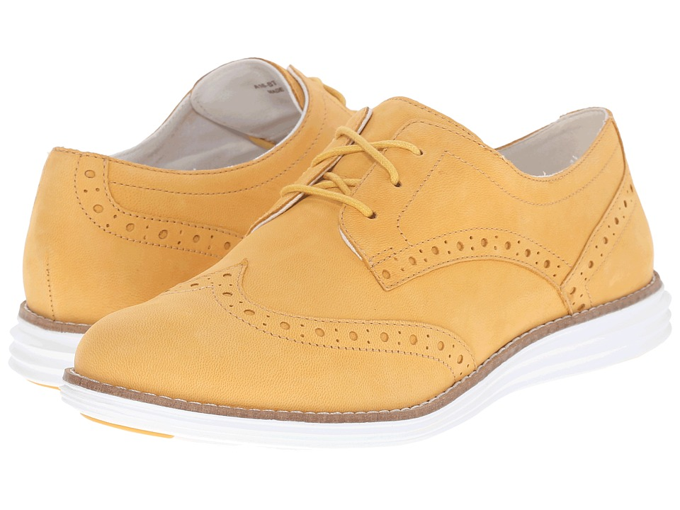Cole Haan - Original Grand Wingtip (Mineral Yellow/Optic White) Women's Lace Up Wing Tip Shoes