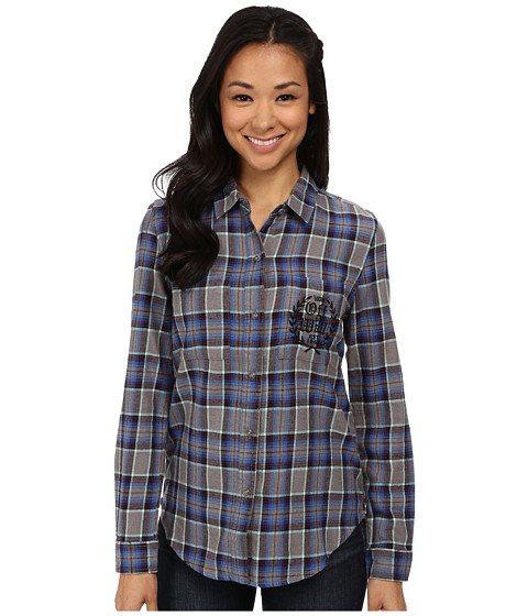 Vans - Laurel Flannel (Frost Gray) Women's Clothing