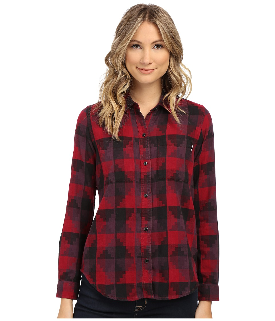 Vans - Free Speech Flannel (Rumba Red) Women's Long Sleeve Button Up