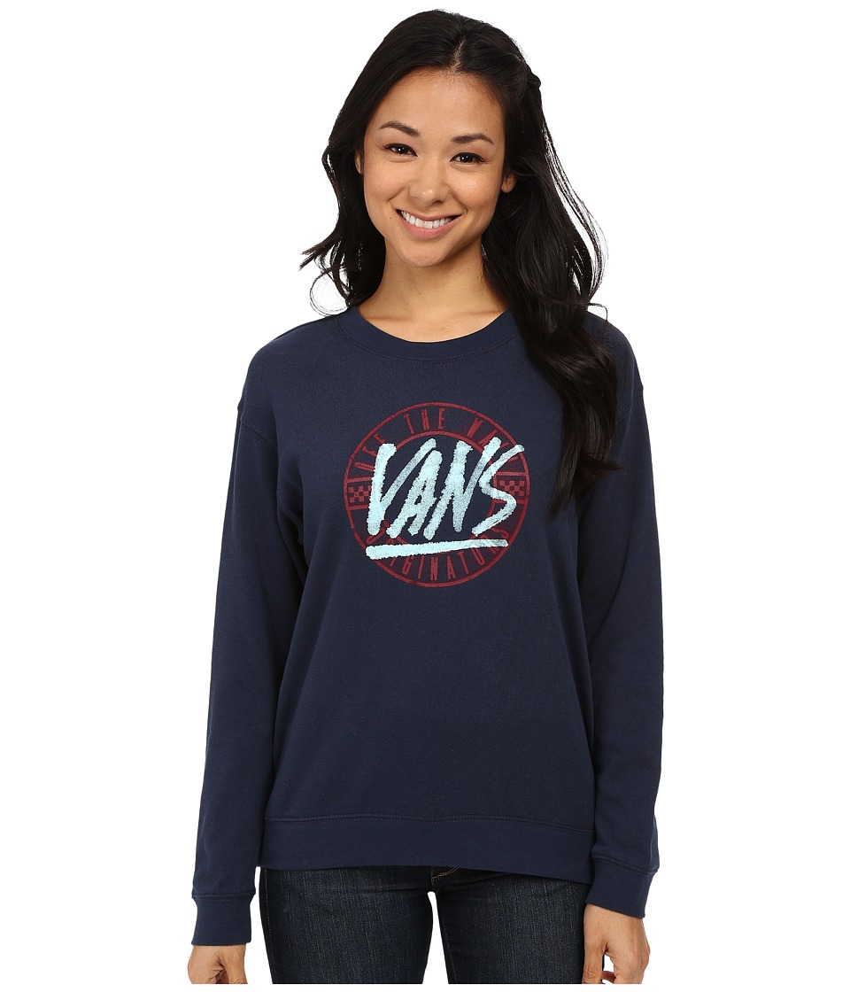 Vans - Tiny Ghost Crew (Indigo) Women's Clothing