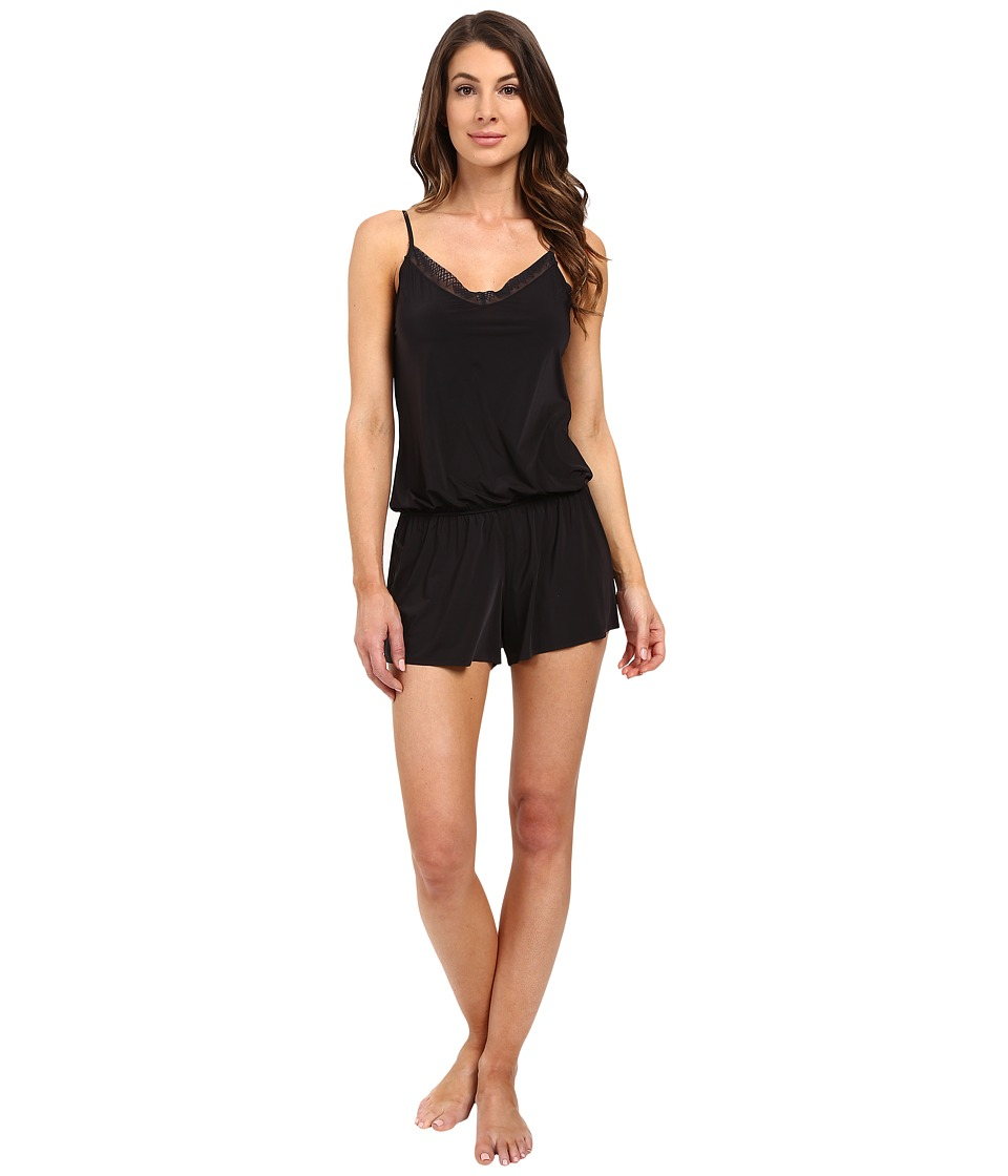 Yummie - Modern Solutions w/ Lace Trim Hollywood Romper (Black) Women's Jumpsuit & Rompers One Piece