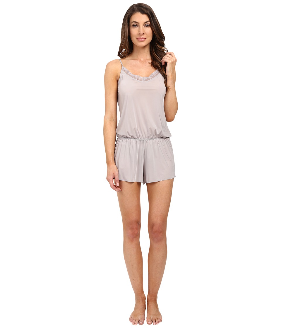 Yummie by Heather Thomson - Modern Solutions w/ Lace Trim Hollywood Romper (Silver Sconce) Women's Jumpsuit & Rompers One Piece