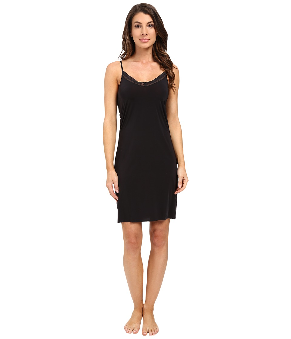 Yummie by Heather Thomson - Modern Solutions w/ Lace Trim Sunny A-Line Slip (Black) Women's Lingerie