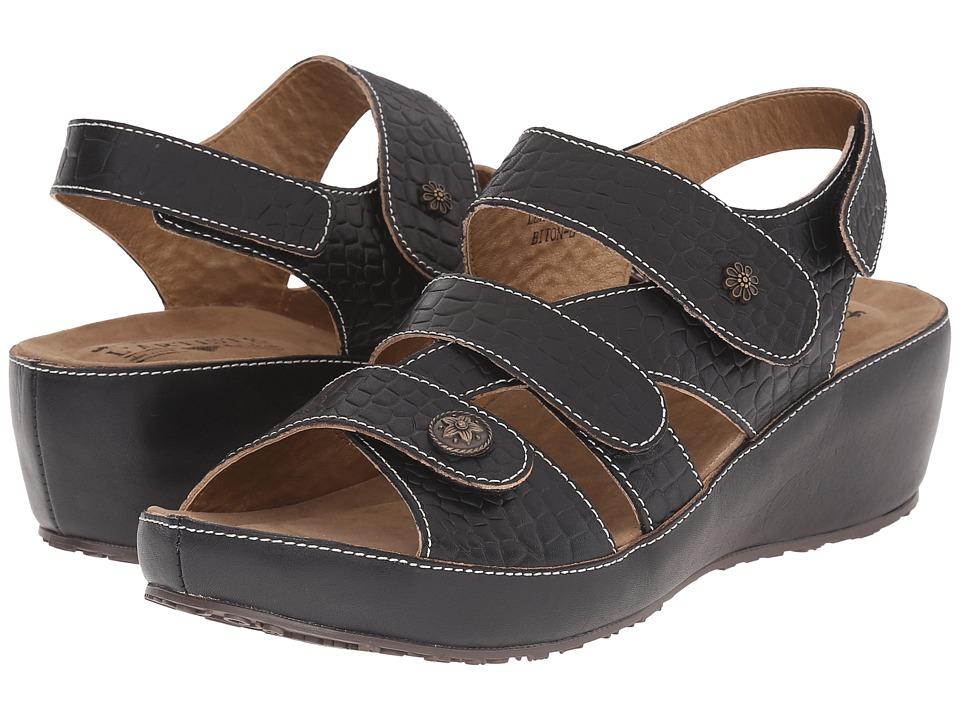 Spring Step - Biton (Black) Women's Shoes
