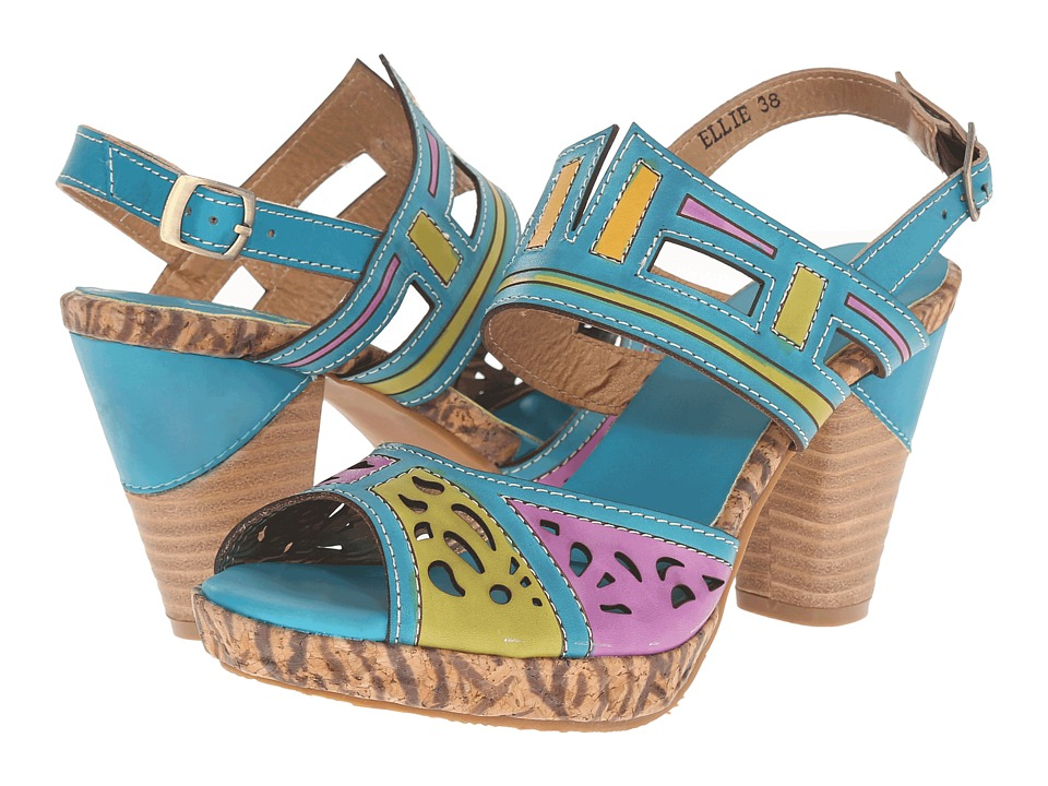 Spring Step - Ellie (Turquoise) Women's Shoes