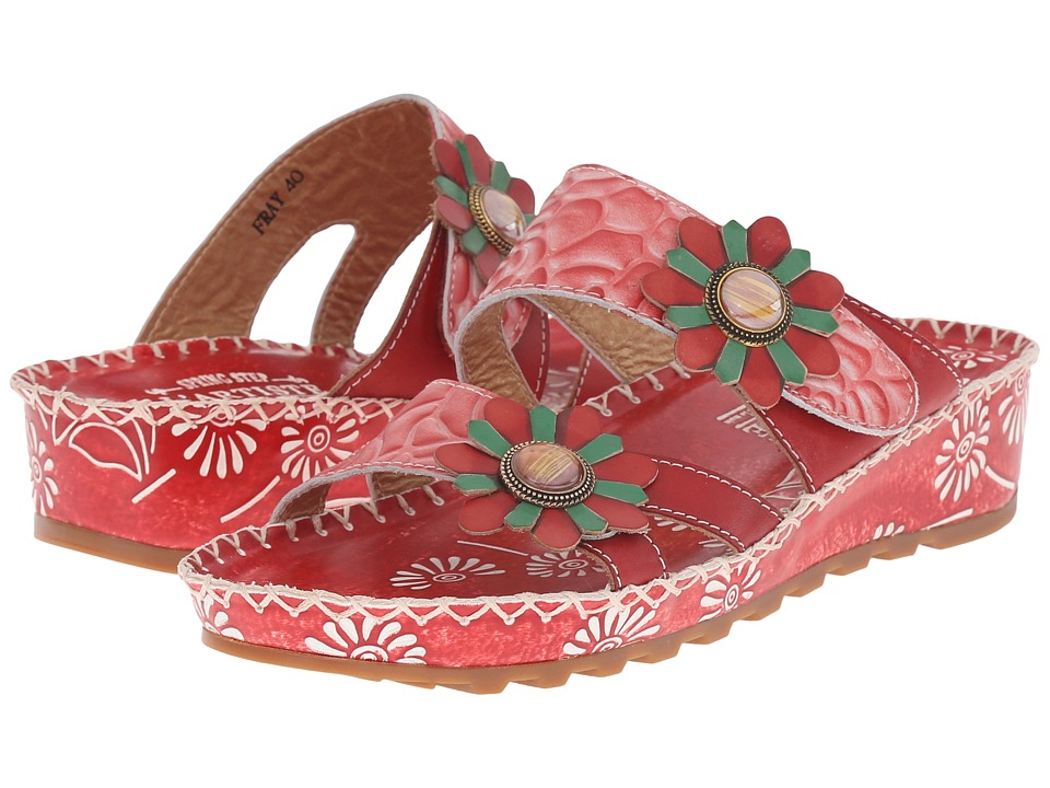 Spring Step Fray (Red) Women