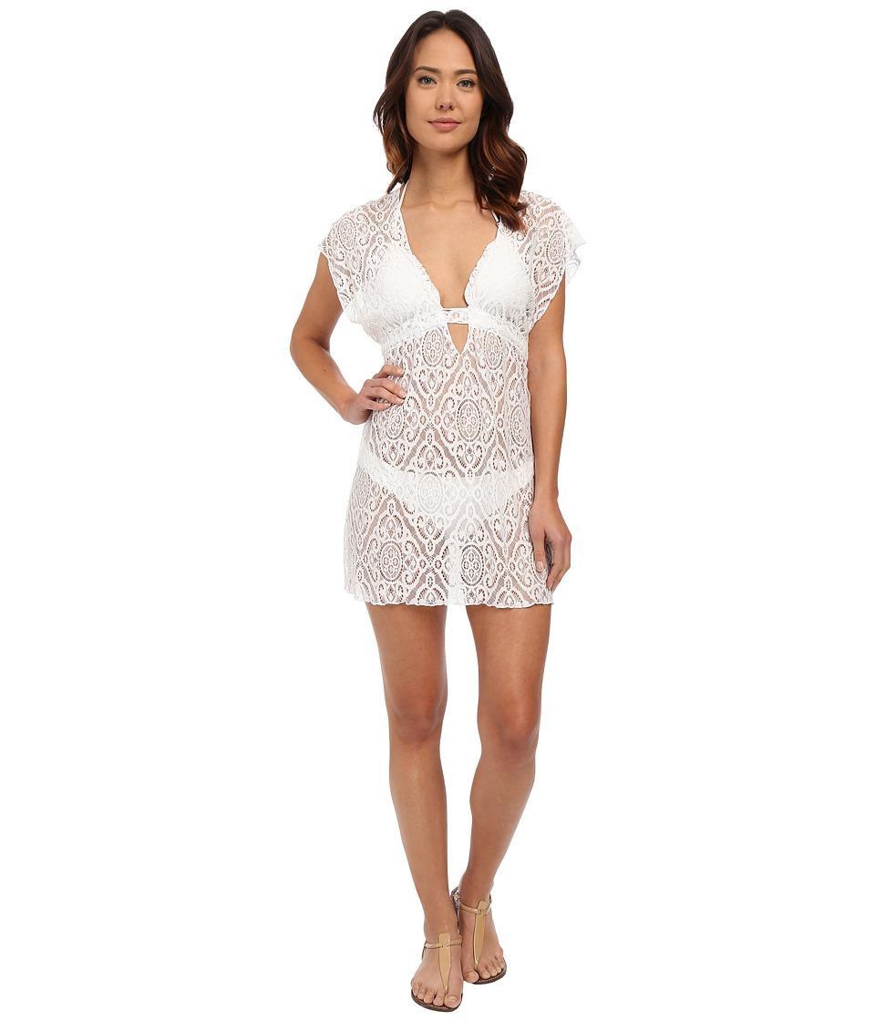 BECCA by Rebecca Virtue - Amore Tunic Cover-Up (White) Women's Swimwear