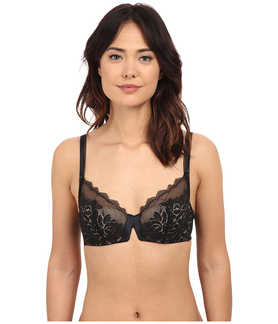 Calvin Klein Underwear - Seduce Cut and Sew Lace Balconette (Black) Women's Bra