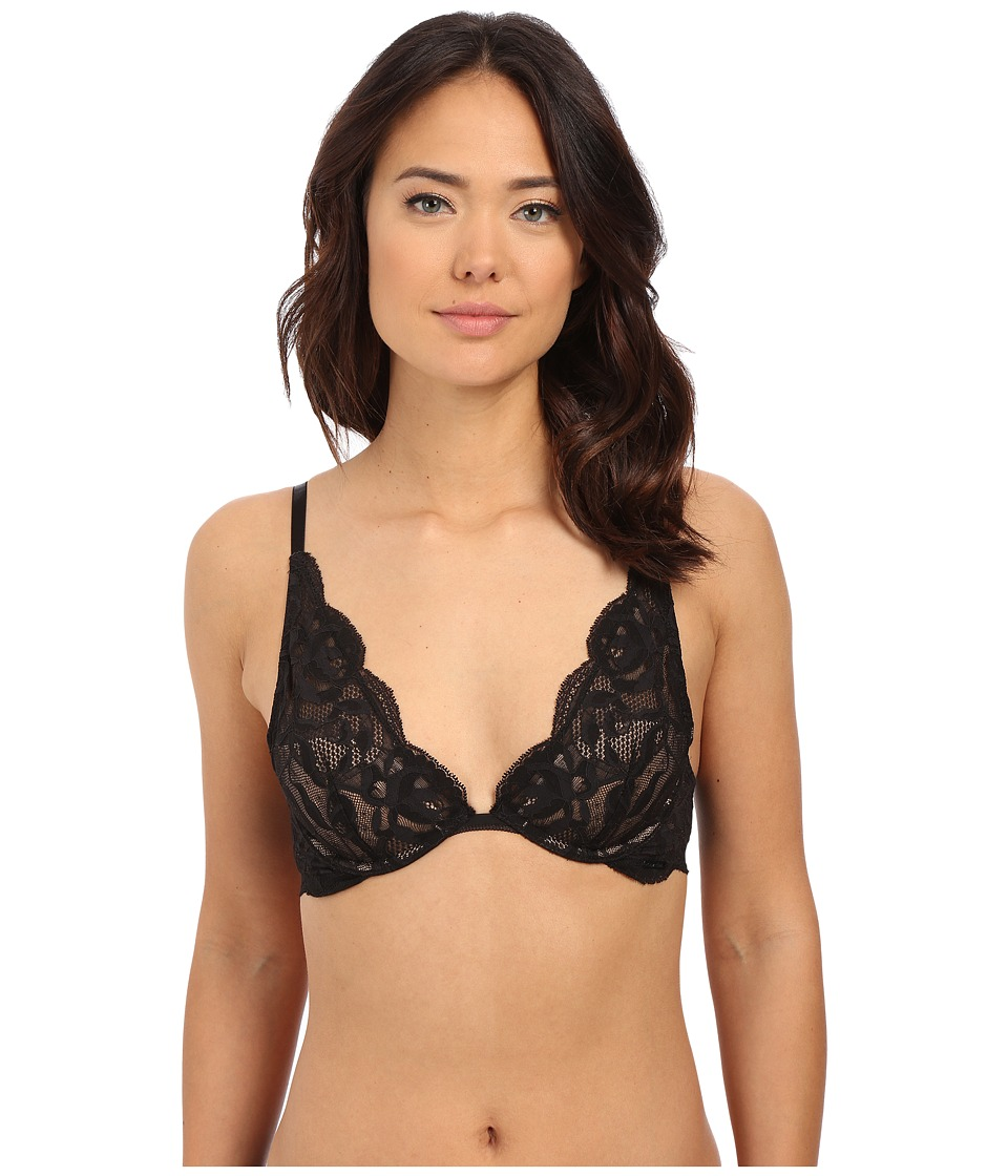 Calvin Klein Underwear - Grace Provocative Plunge (Black) Women's Bra