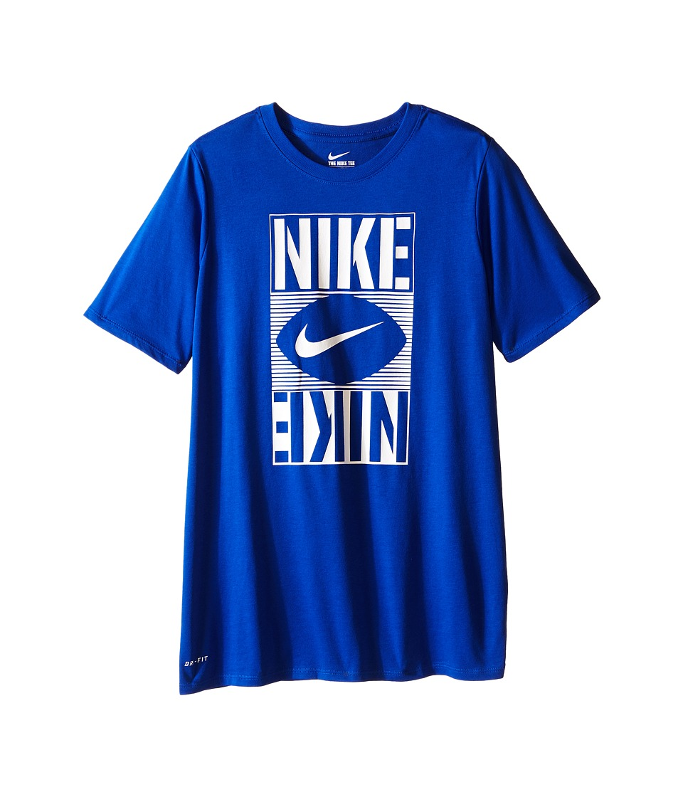 Nike Kids - Football Block Tee (Little Kids/Big Kids) (Game Royal) Boy's T Shirt