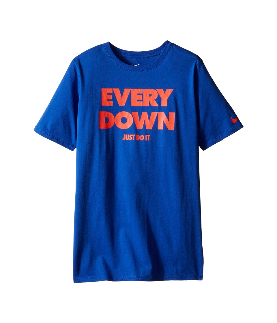 Nike Kids - Every Down Tee (Little Kids/Big Kids) (Game Royal) Boy's Clothing