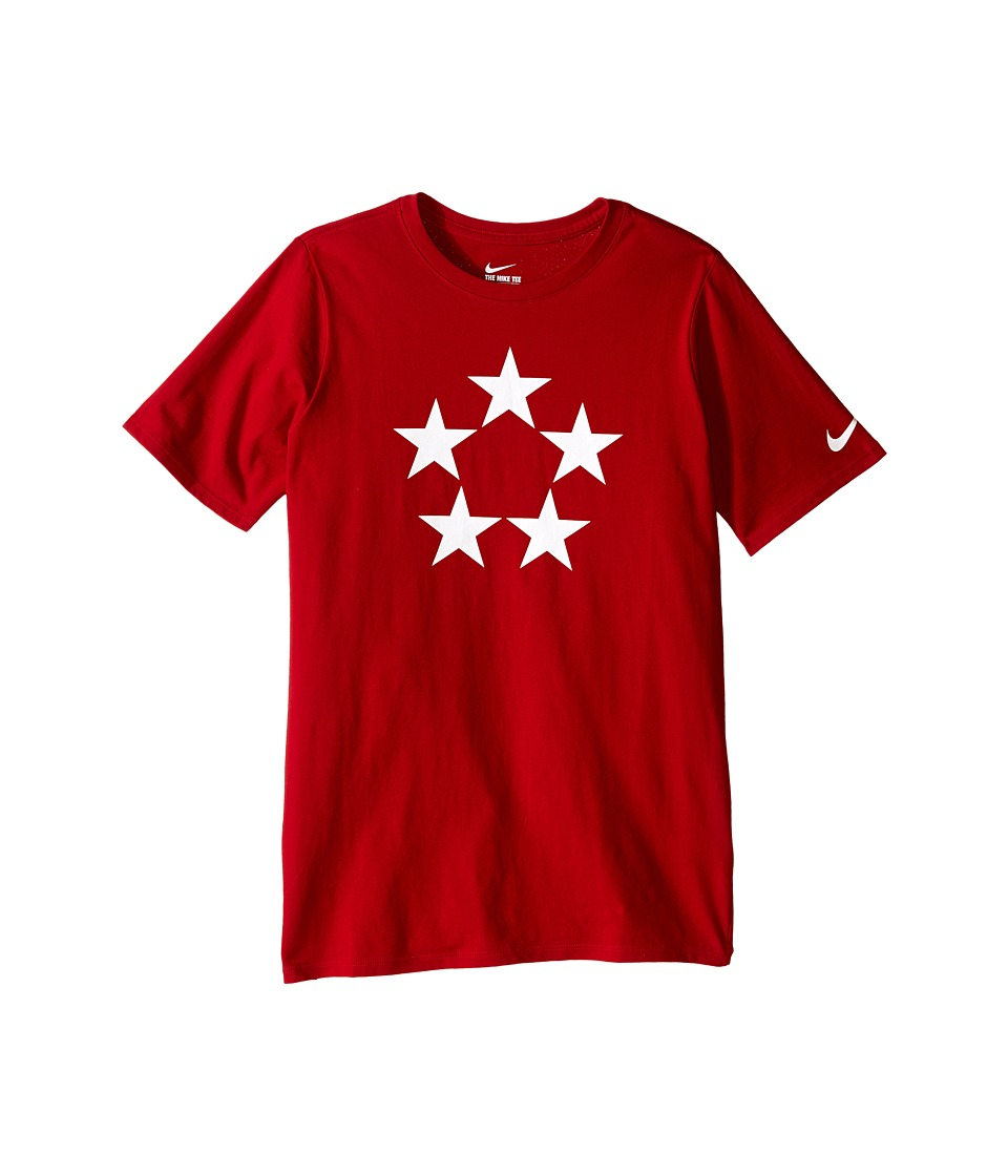 Nike Kids - Field Generals Tee (Little Kids/Big Kids) (Gym Red) Boy's T Shirt