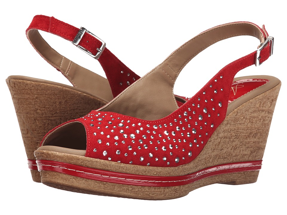 Spring Step - Showtime (Red) Women's Wedge Shoes