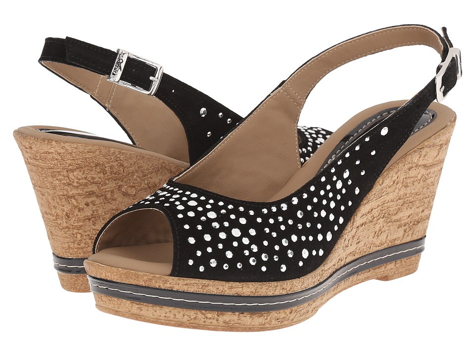 Spring Step - Showtime (Black) Women's Wedge Shoes