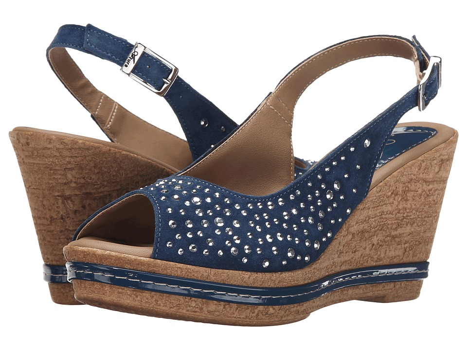 Spring Step - Showtime (Navy) Women's Wedge Shoes