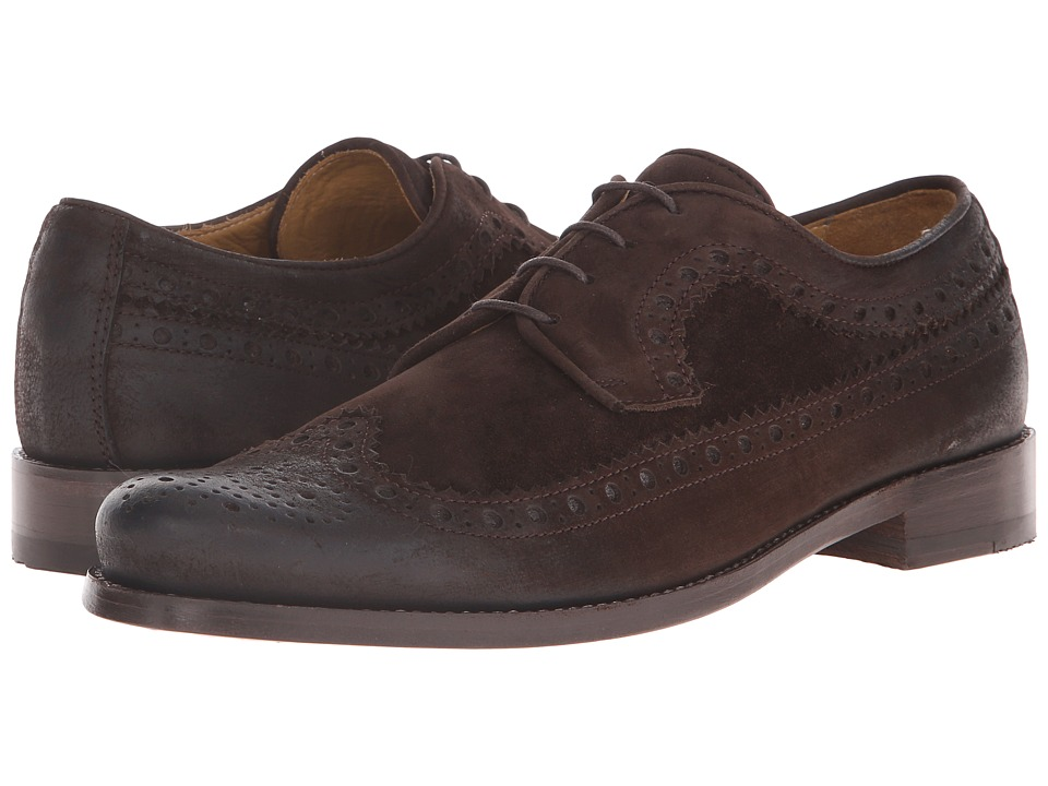 Billy Reid - Butz Wingtip Shoe (Dark Brown) Men's Shoes