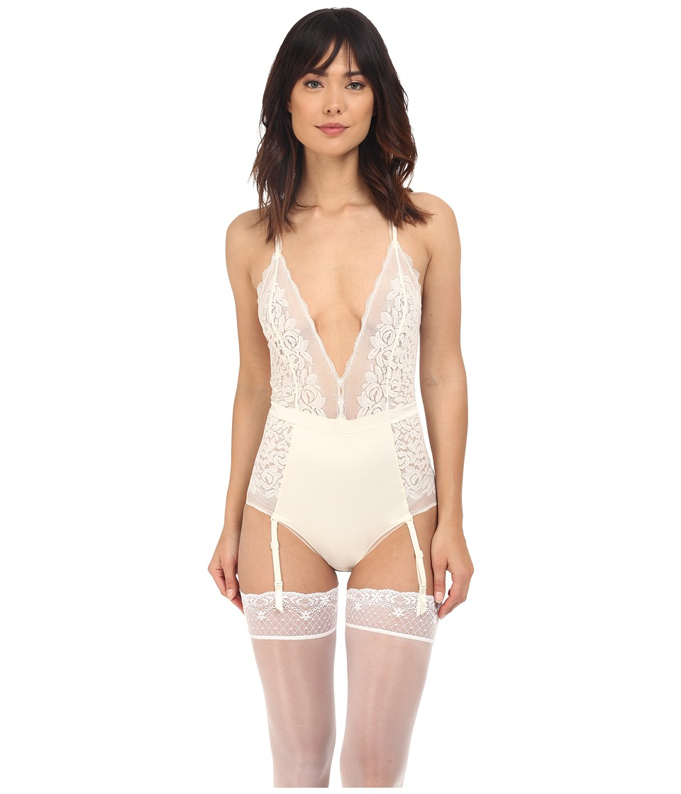 Calvin Klein Underwear - Seduce Bodysuit (Ivory) Women's Jumpsuit & Rompers One Piece