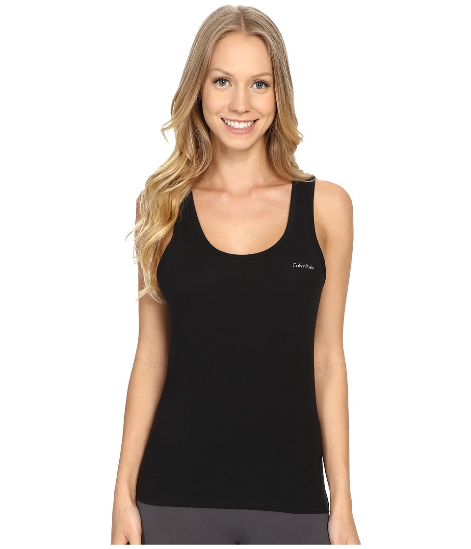 Calvin Klein Underwear - Cotton Coordinating Top Tank Top (Black) Women's Pajama