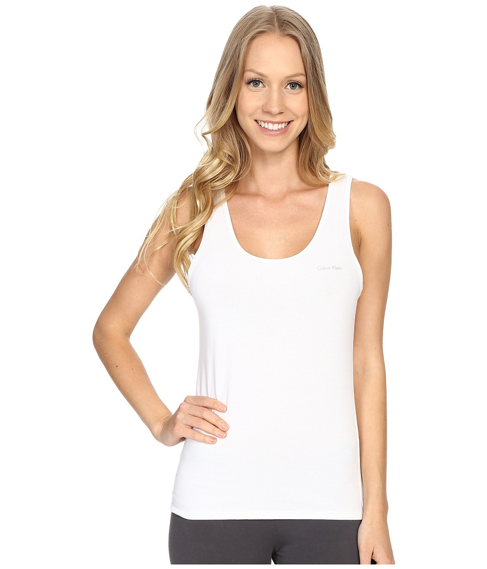 Calvin Klein Underwear - Cotton Coordinating Top Tank Top (White) Women's Pajama