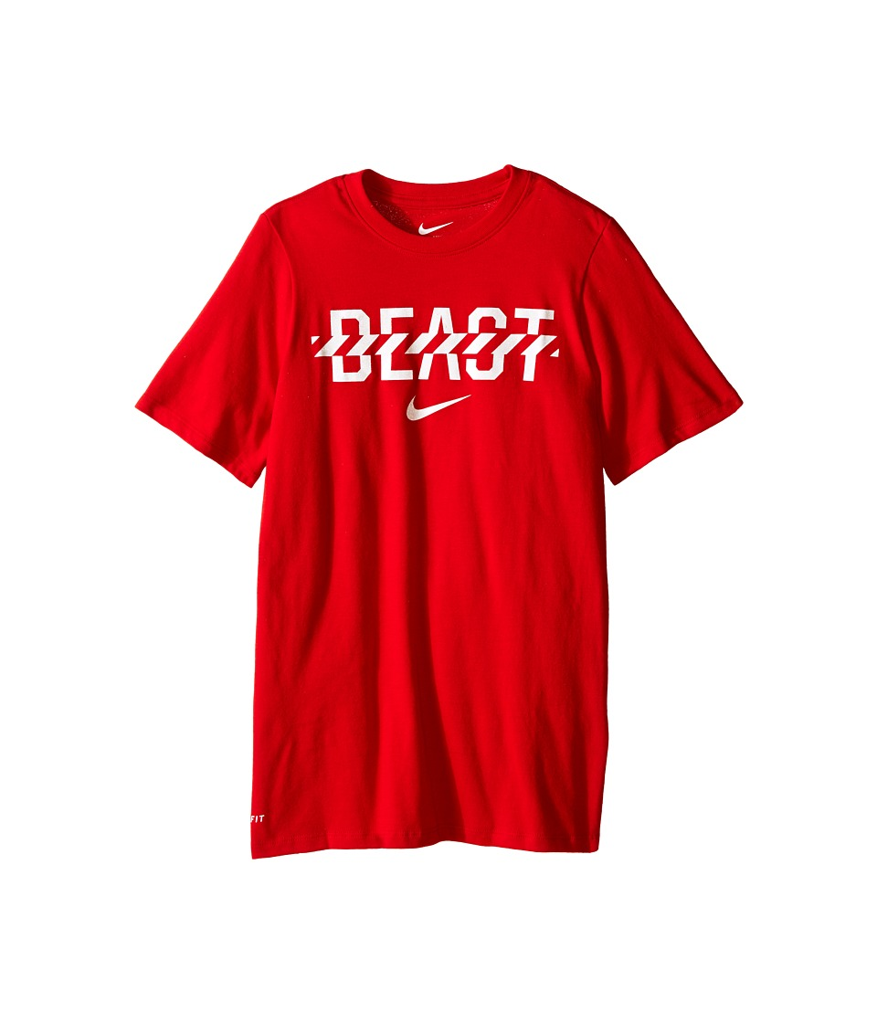 Nike Kids - Beast Tee (Little Kids/Big Kids) (University Red/White) Boy's T Shirt