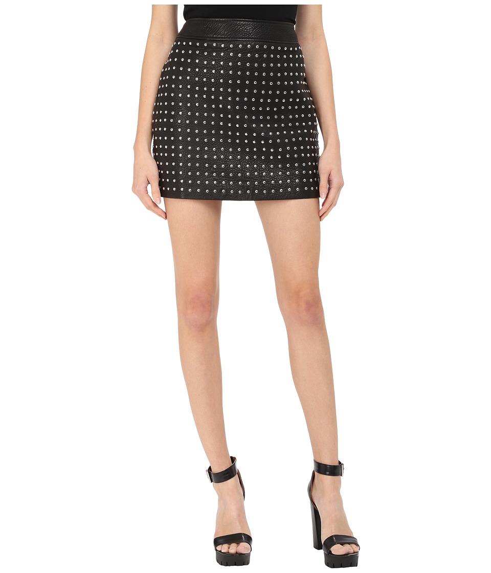 McQ - Studded Biker Mini (Black) Women's Skirt